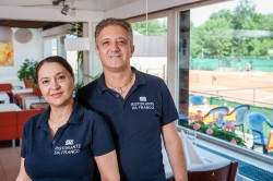 Elena Ungureanu und Franco Patera, Restaurant Da Franco